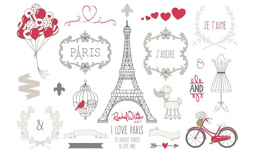 paris vector set