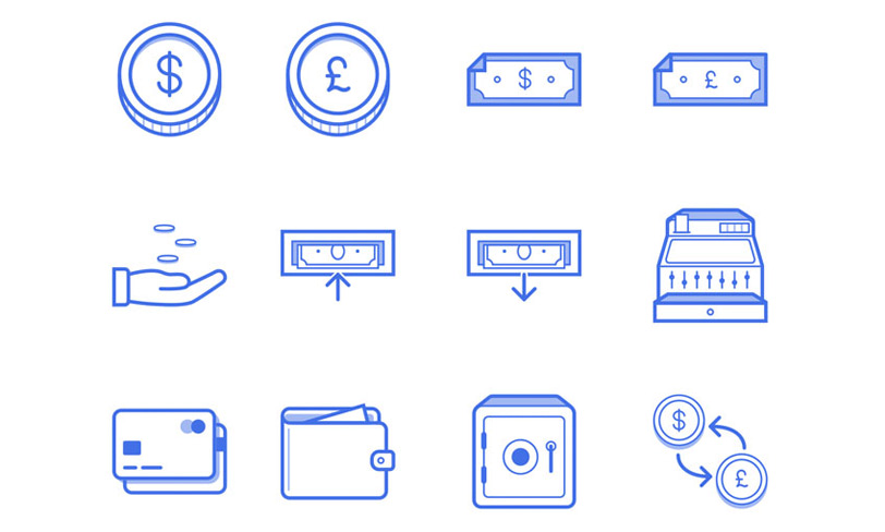 ikony finanse