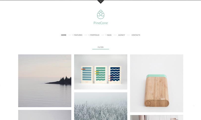pine cone darmowy motyw wordpress portfolio