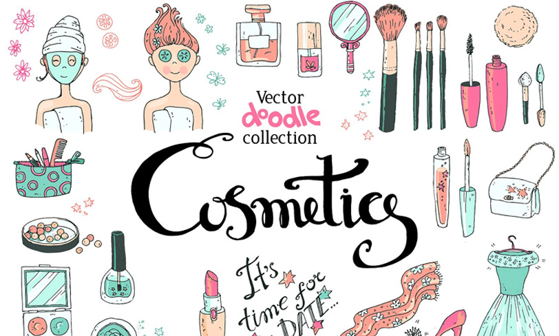 darmowe kosmetyki vectory, spa, makijaż, blog