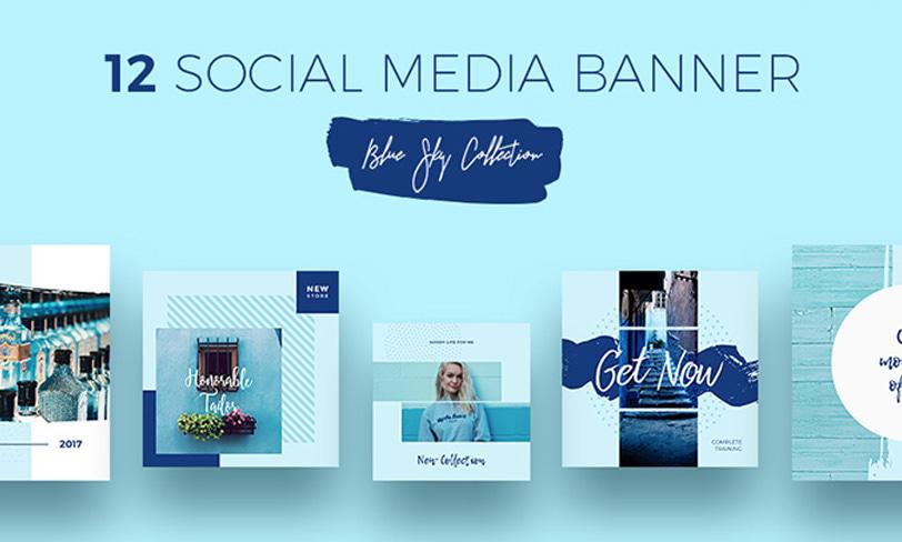 zestaw banerów facebook, instagram, pinterest