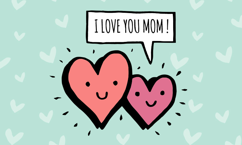 grafika dzień matki serca