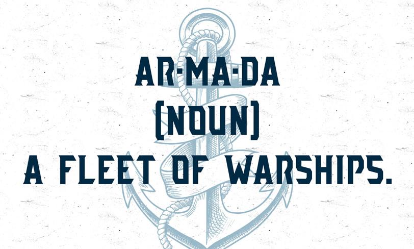 darmowy font armada