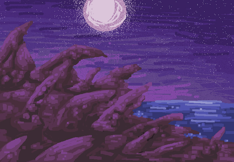 plaża krajobraz ms paint