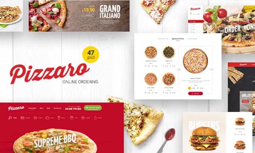 pizzaro strona pizzerii psd